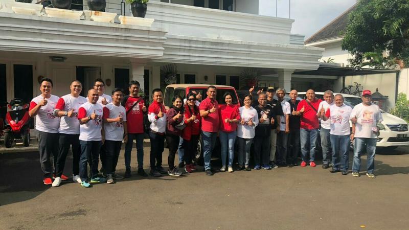 Komunitas motorsport bersiap hadiri Deklarasi Sohib Pras dari titik kumpul di jalan Imam Bonjol Jakarta Pusat Sabtu pagi. (foto : ist)