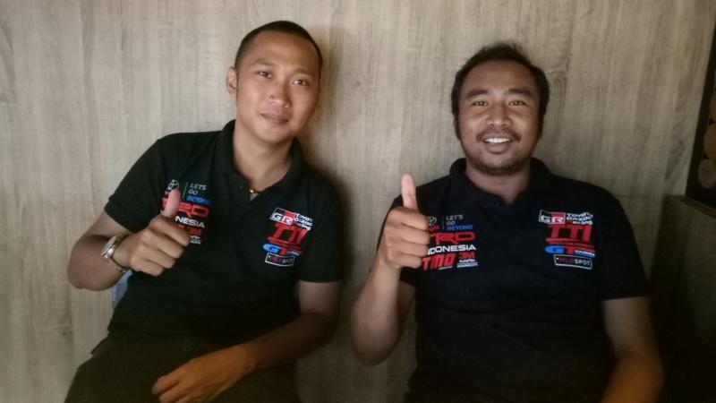 Adrianza Yunial (kiri) dan Haridarma Manoppo, bertekad pertahankan gelar juara nasional. (foto : bs)