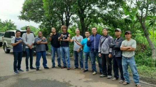 Para penggiat motorsport roda dua maupun roda empat Jawa Barat bersiap meninjau bakal venue offroad di Cimahi. (foto : ist)