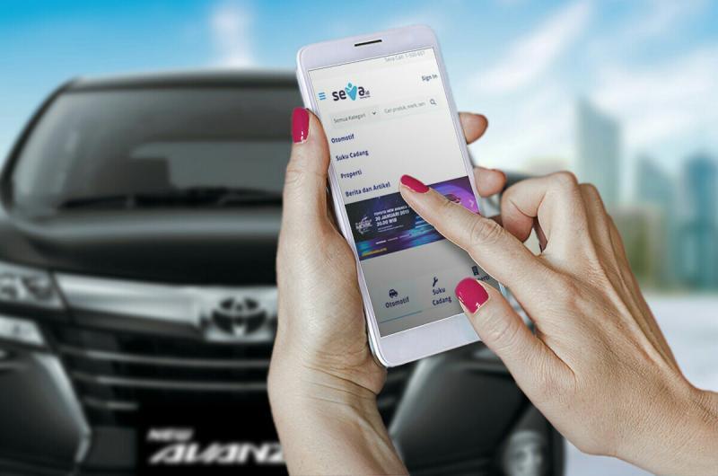 Melalui aplikasi seva.id dari Astra International, beli mobil Toyota lebih mudah. (foto : ist)