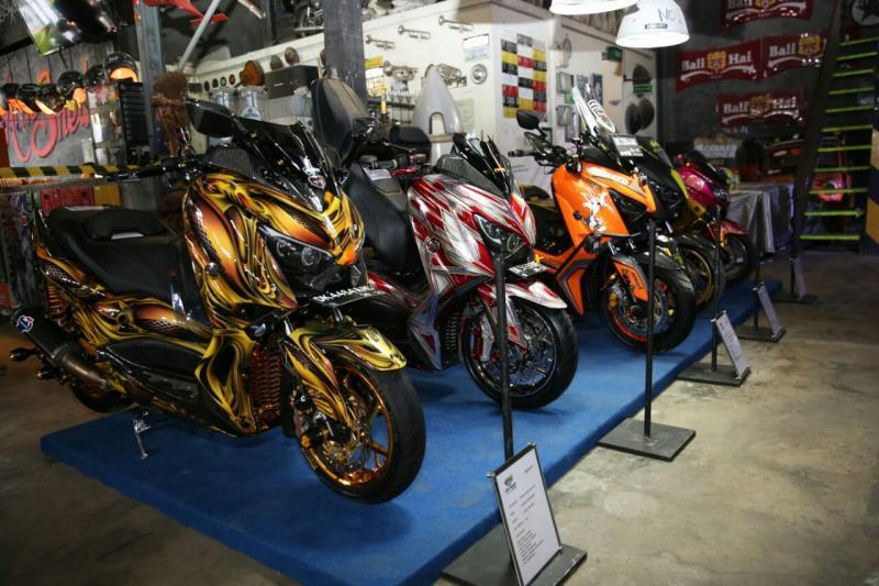 Ini kerapian modifikasi Yamaha pada CustoMAXI di Bali. (foto : ist)