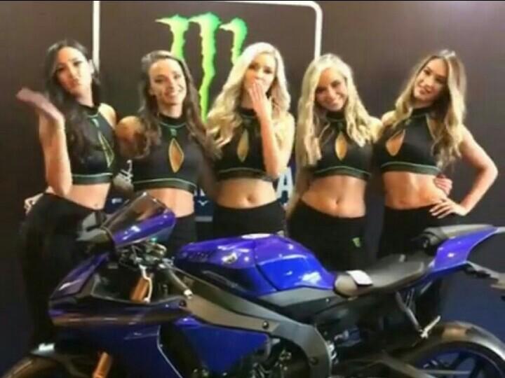 Suasana launching Monster Energy Yamaha MotoGP Team di Jakarta