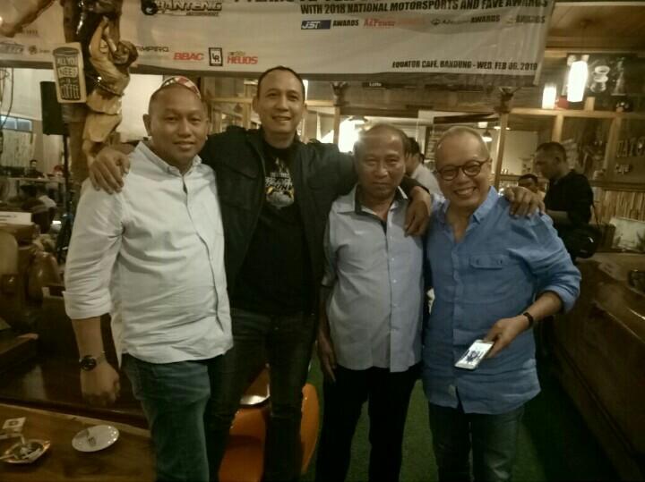 Dari kiri : Anondo Eko, Oke Junjunan, Andry SA dan Jeffrey JP. (foto : bs)
