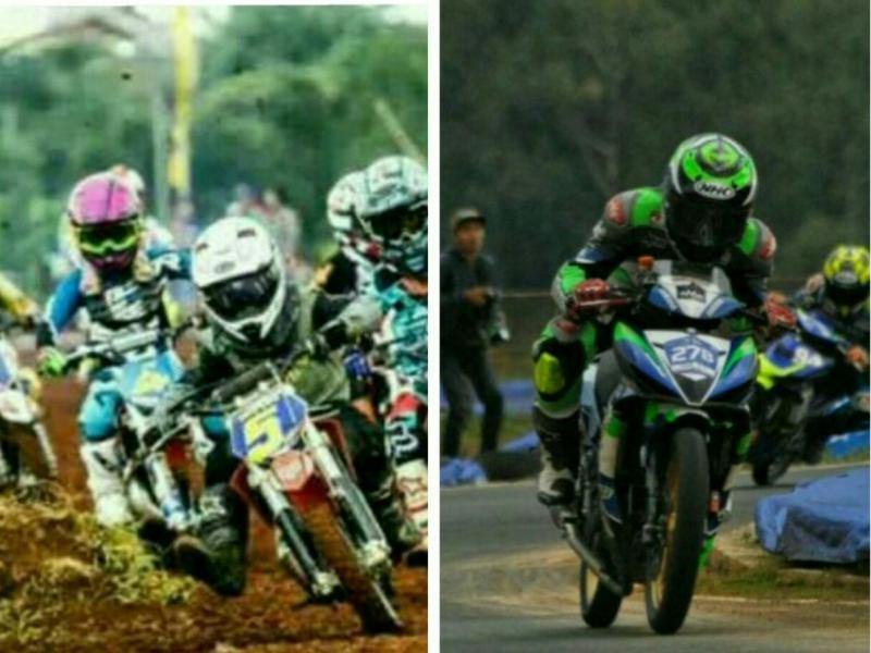 Motocross & balap motor akan perebutkan 8 medali emas di PON Papua 2020. (foto : kolase)