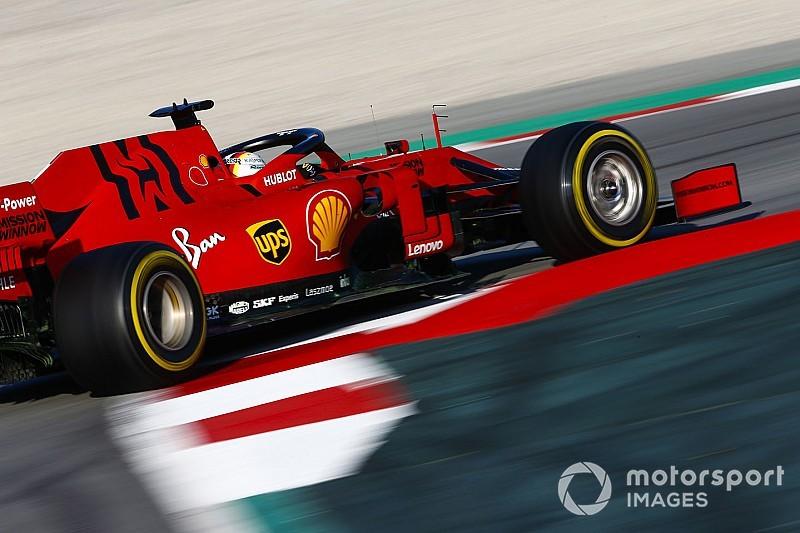 Sebastian Vettel melesat di hari pertama tes resmi pra musim F1 2019 di Sirkuit Barcelona (ist)