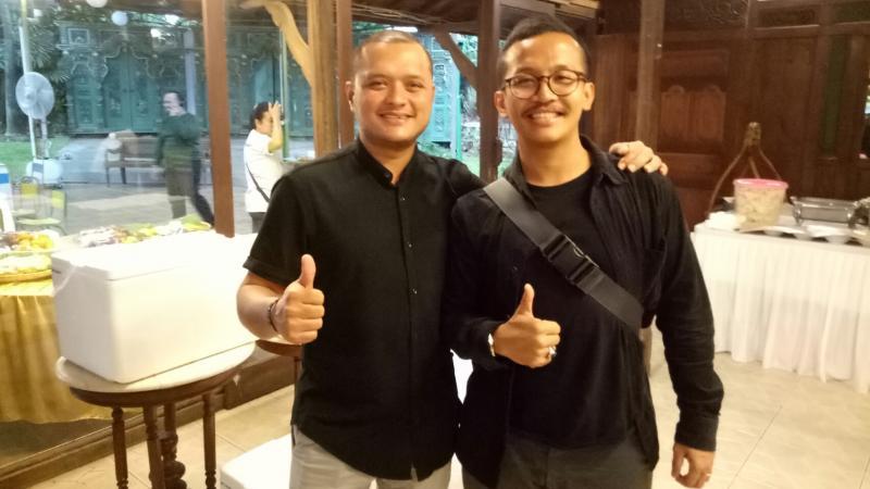 Bimo Pradikto dan Rizal Sungkar,  Banteng Motorsport tetap eksis tahun ini.  (foto : bs)