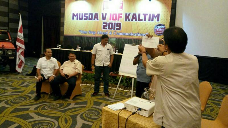 Hasil voting Musda V IOF Kaltim beda tipis antara Taufik vs Gatot Koco. (foto : ist)