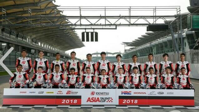 Para pembalap Asia Talent Cup tahun 2018. Ada 5 pembalap dari Indonesia. (foto : ist)