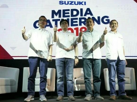 Punggawa PT. Suzuki Indomobil Sales pada Suzuki Media Gathering di Kemayoran pada Senin, 4 Maret 2019. (foto : ist)
