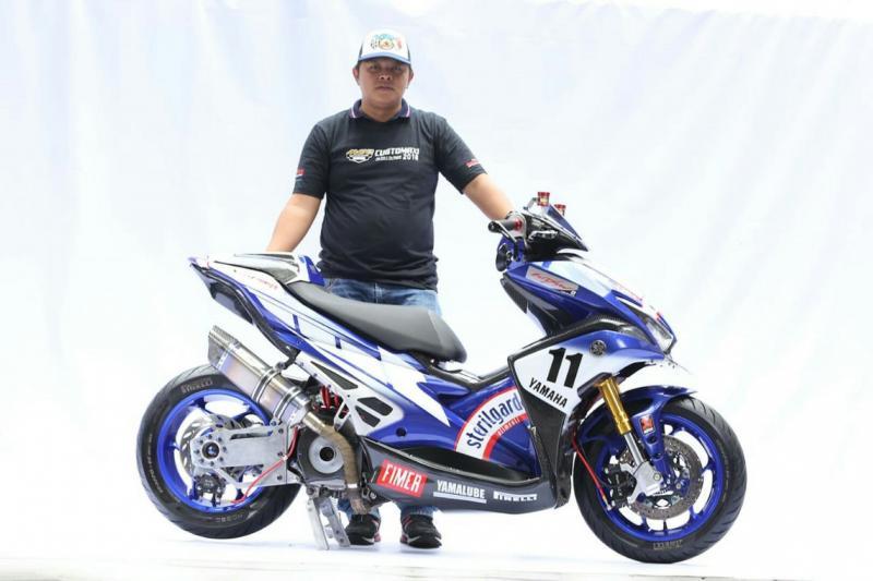 Wiryawan dinobatkan sebagai King of Maxi Yamaha Modification 2018.