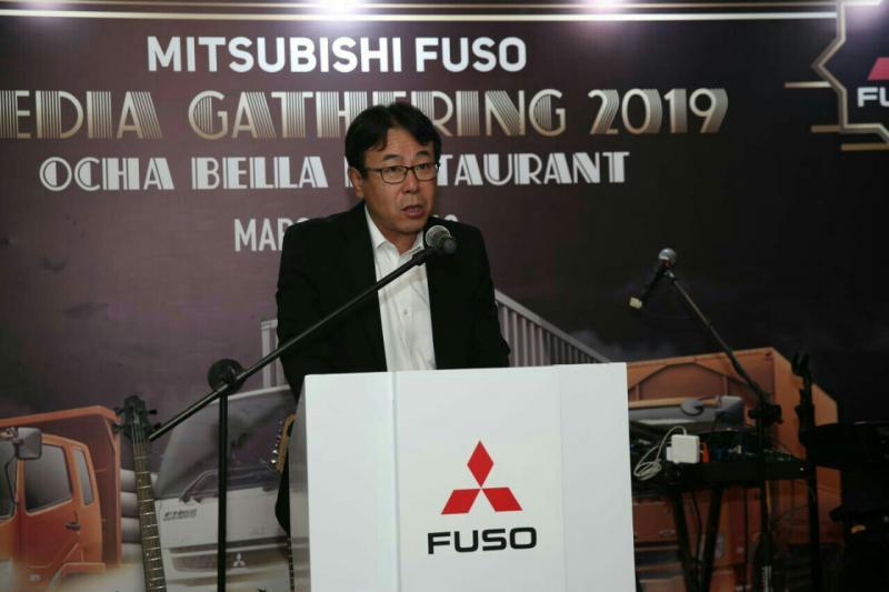 Presdir PT KTB Atsushi Kurita menyampaikan pencapaian dan target tahun 2019 di Jakarta, Senin. (foto : ist)