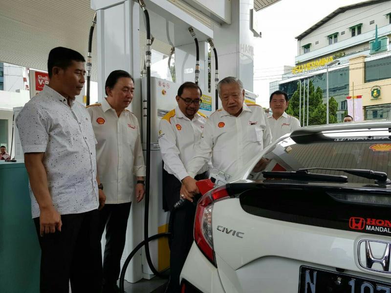 Pembukaan 2 SPBU baru Shell di Malang, Jawa Timur. (foto : ist)