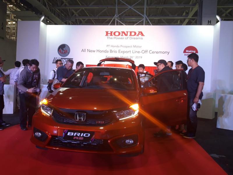All New Brio RS model ekspor pakai stir kiri