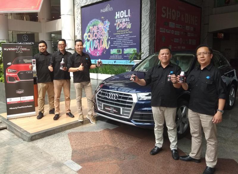 System X jadi mitra resmi untuk ceramic coating di seluruh line up mobil Audi dan VW yang dipasarkan di Indonesia. (anto)