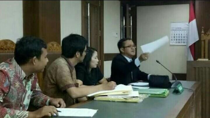Gugatan pembatalan penamaan Gymkhana akhirnya ditolak hakim. (foto : bs)
