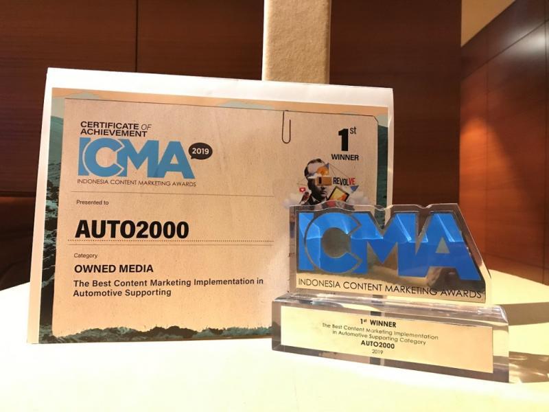 Auto2000 raih penghargaan kategori Owned Media di ICMA 2019