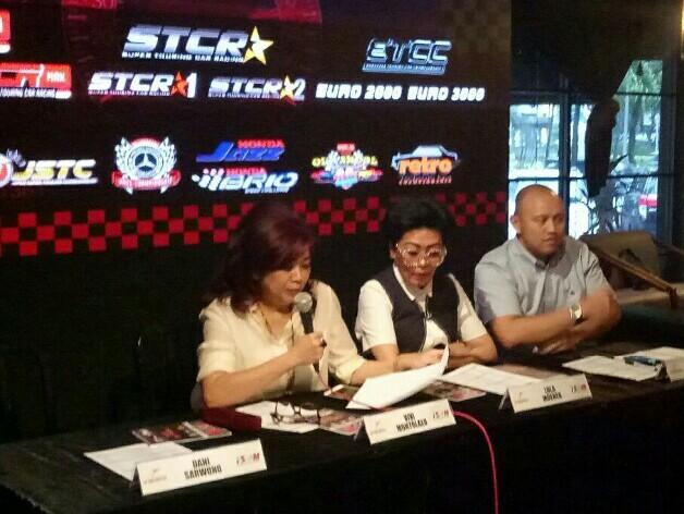 Dari kiri : Vivi Montolalu, Lola Moenek dan Ananda Mikola di preskon ISSOM di Jakarta, Senin hari ini. (foto : bs)