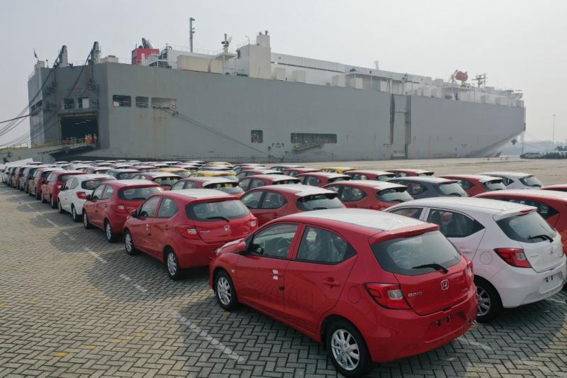 PT Honda Prospect Motor (HPM) mulai mengirimkan All New Honda Brio untuk pasar ekspor dari pelabuhan Tanjung Priok, Jakarta pada 10 April 2019. (HPM)