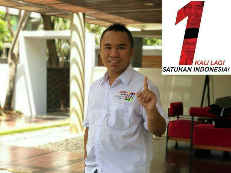 Andy Wibowo,  menilai Jokowi melakukan pembangunan secara masif untuk mensejahterakan rakyat.  (foto : bs)