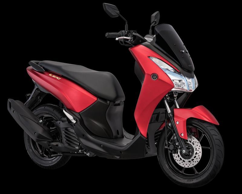 Yamaha Lexi makin keren dan luxury dengan emblem baru.  (foto : ist)