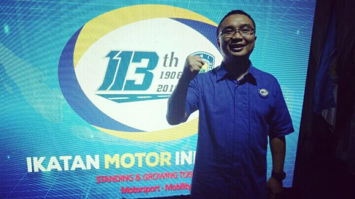 Sadikin Aksa, balap motor OnePrix akan ditayangkan secara live tv nasional. (foto : bs)