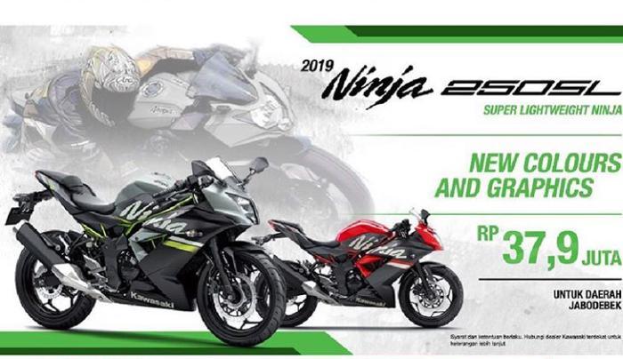 Ninja 250 SL punya penyegaran warna dan grafis bodi yang lebih simpel, yakni kombinasi warna merah – hitam dan silver - hitam.