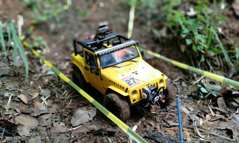 Tampilan mobil persis skala 1:1 lengkap dengan winch. (foto : okky)