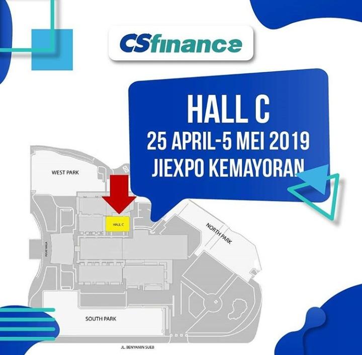 Mau tahu lebih lengkapnya? Datang ke Booth CS Finance di Hall C JIEXPO Kemayoran, Jakarta Pusat.
