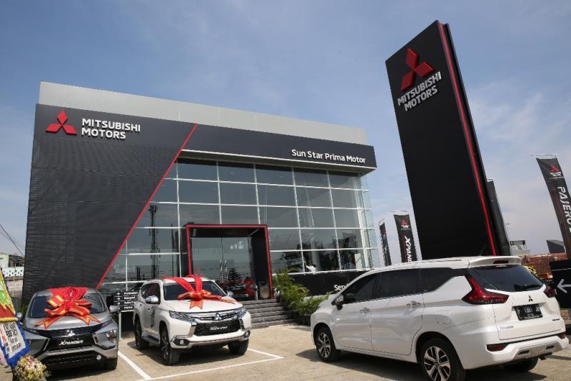 Dealer Mitsubishi SUN Star Prima Motor Tajur, Bogor sudah mengaplikasi identitas visual terbaru Mitsubishi Global