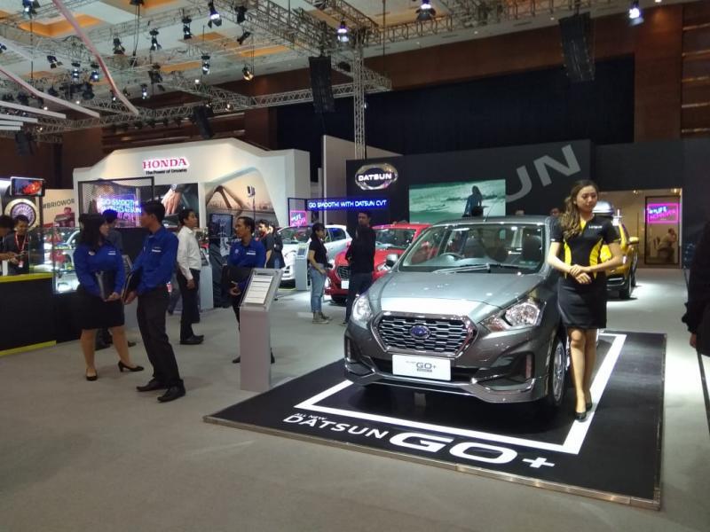 Keempat model yang ditampilkan adalah Datsun GO+, Datsun GO Hatchback, Datsun GO-Live dan Datsun CROSS. (anto)
