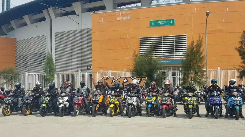 Suasana ulang tahun Maxi Yamaha Day ke-3 dipusatkan di Stadion Pakansari Cibinong, Bogor.