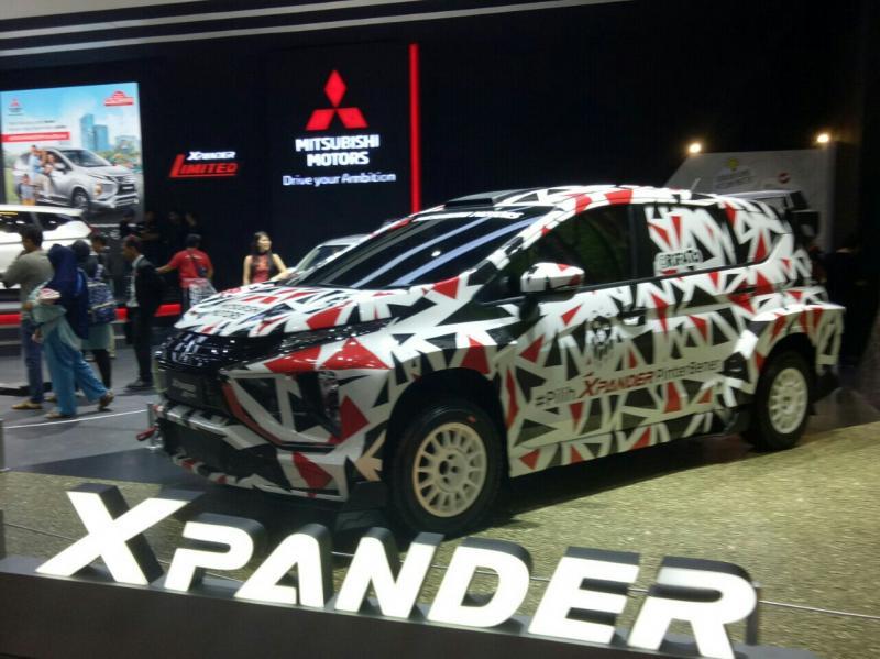 Mitsubishi Xpander yang akan dipakai reli Rifat Sungkar di APRC 2019. (foto : bs)
