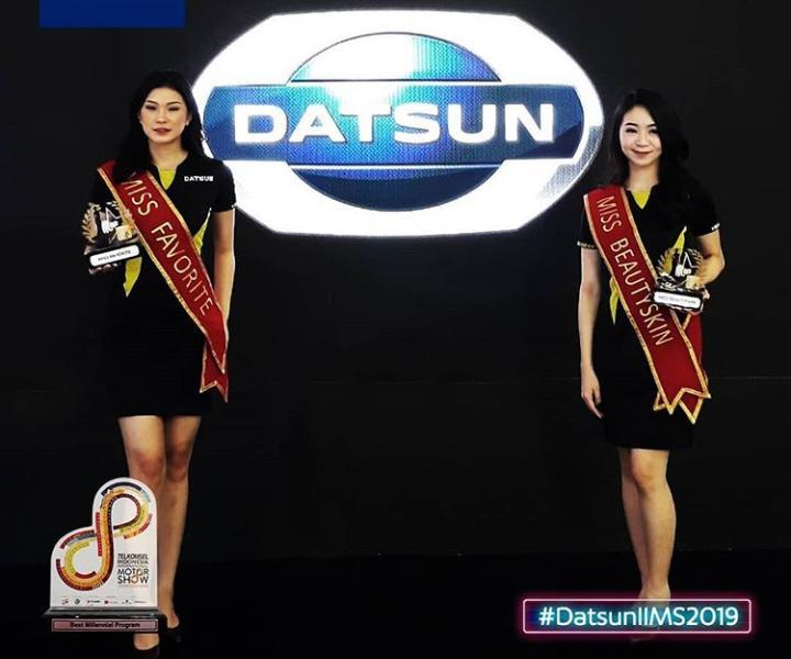 Penghargaan lain yang diraih Datsun adalah sebagai Miss IIMS untuk kategori Miss Favorite dan Miss Beauty Skin.