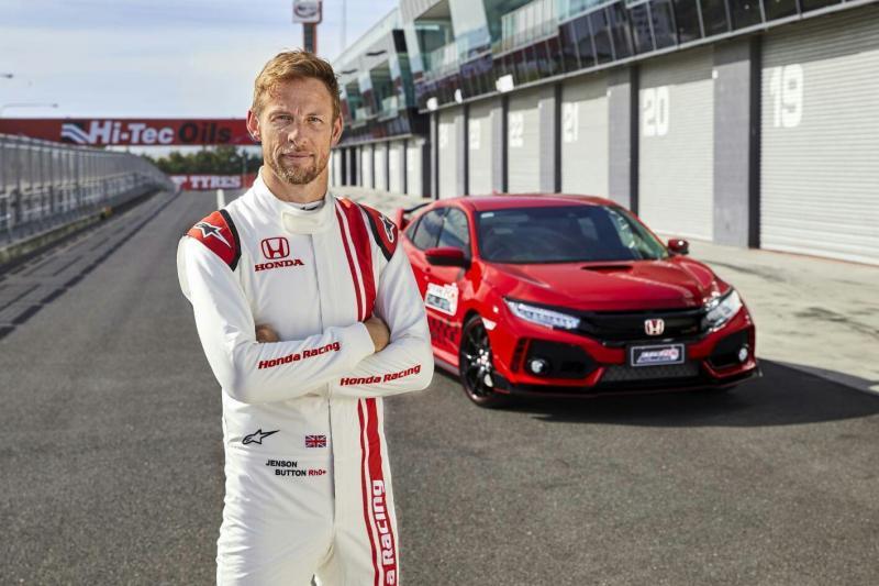 Jenson Button pecahkan rekor waktu dengan Honda Civic Type R di Australia