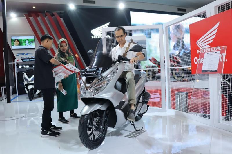 Motor Honda terjual 1.223 unit di Telkomsel IIMS 2019. (anto)