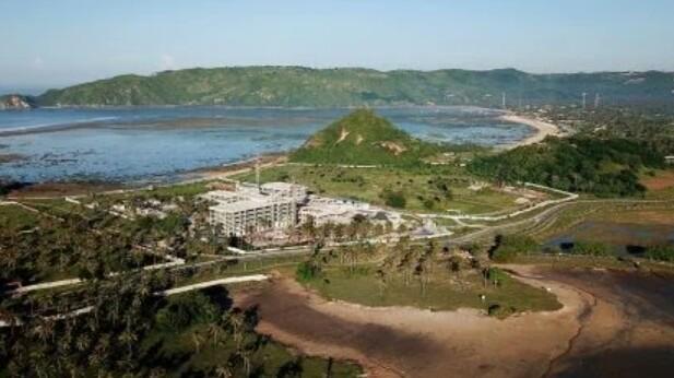Kawasan di Mandalika Lombok NTB ini akan dibangun sirkuit jalan raya untuk MotoGP