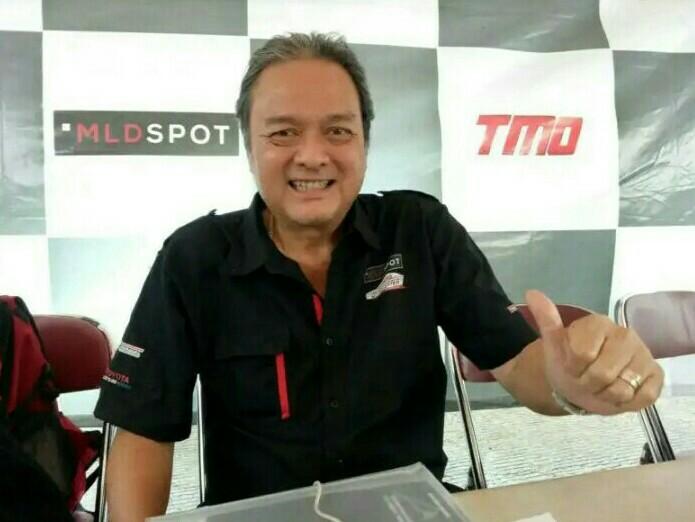 Tjahjadi Gunawan, promotor nasional Genta Auto&Sport siap menggelar 7 seri Kejurnas Slalom Auto Gymkhana. (foto : bs)