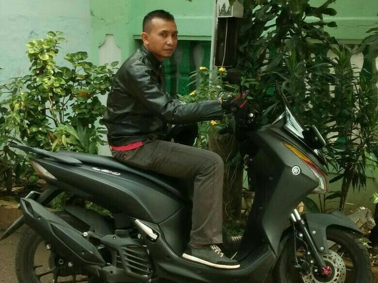 Eko Kahono siap mudik dari Tangerang -  Gunung Kidul, Yogyakarta dengan skutik Yamaha Lexi