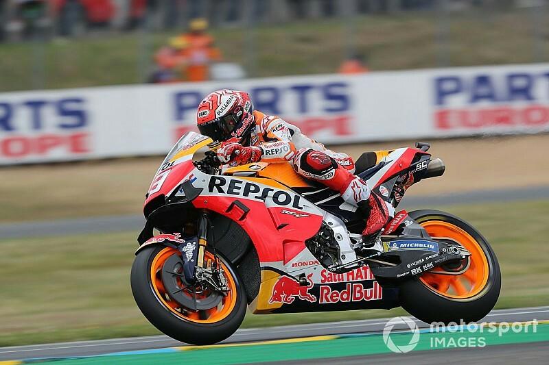 Marc Marquez pole sitter di MotoGP LeMans dan samai rekor ke-55 Rossi
