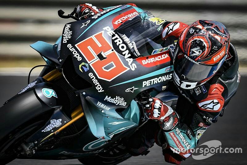 Local hero Fabio Quartararo sukses menjadi rider tercepat di FP1.(foto : motorsport) .