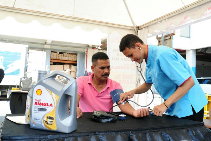 Periksa kesehatan gratis bagi sopir dari Shell Rimula