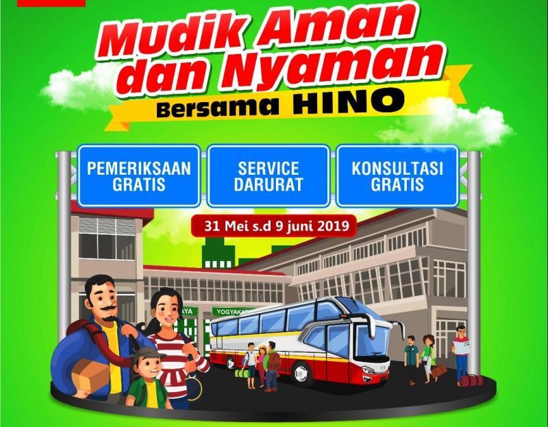 Hino posko mudik memiliki beberapa fasilitas untuk kemudahan dan keamanan para pengendara bus Hino.