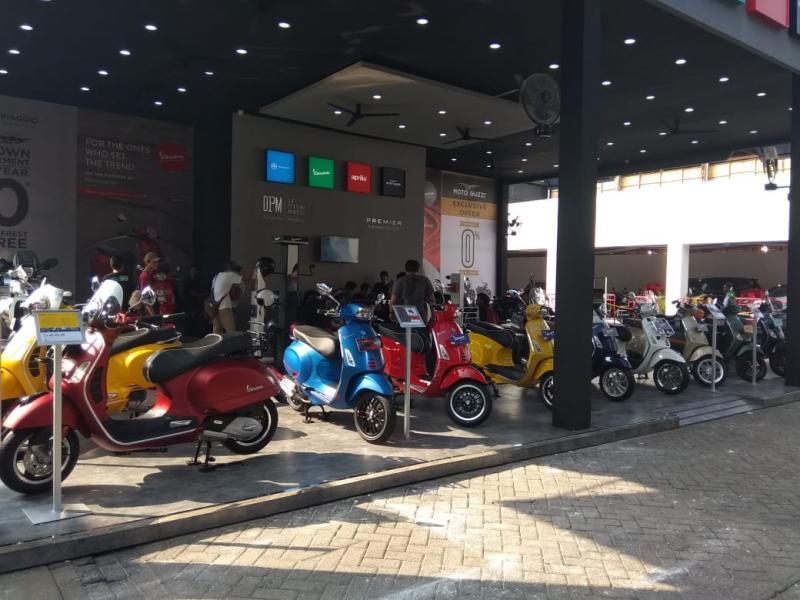 Produk-produk unggulan Piaggio, Vespa, Aprilia dan Moto Guzzi menyapa para pengunjung Jakarta Fair 2019 mulai dari 22 Mei hingga 30 Juni 2019. (anto)