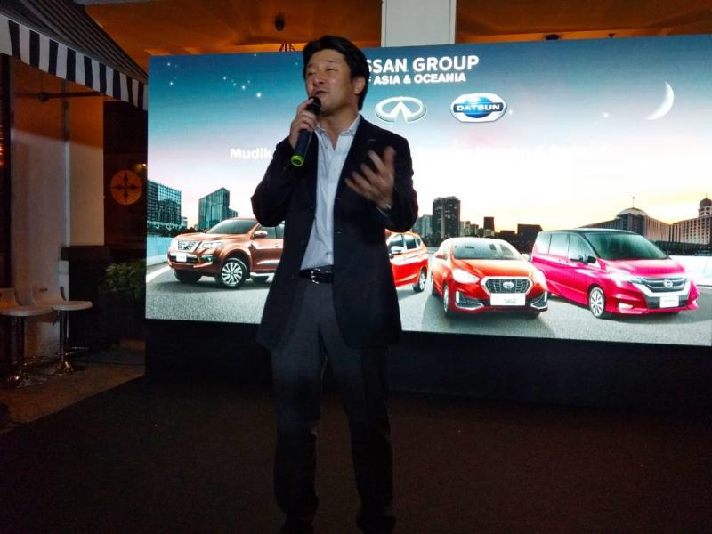 Isao Sekiguchi, Presdir PT NMI. Pembelian model baru Livina, Serena, Terra dan X-Trail, konsumen dapat menikmati Nissan Care Package.(anto)