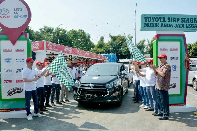 Toyota Astra Motor resmikan beroperasinya 316 titik pelayanan mudik 2019 di rest area Cikampek, Jawa Barat