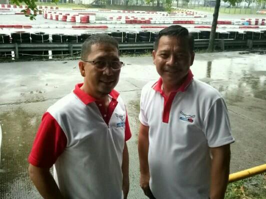 Albert Donovan dan James Sanger, pengelola Sentul Paddock Circuit. (foto : bs)
