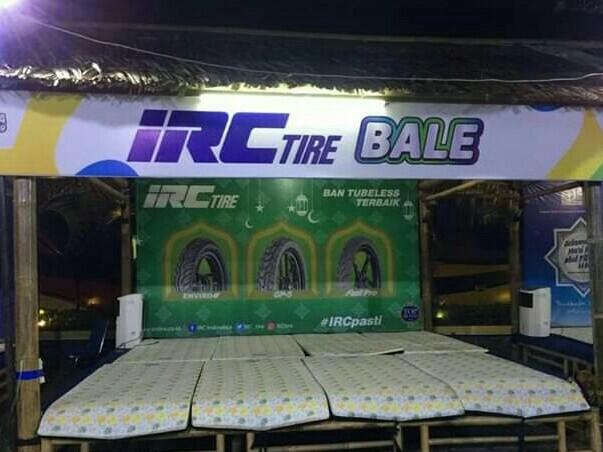 Bale IRC ada di 4 titik Posko Mudik Yamaha, istirahat nyaman dan berhadiah. (foto : irc)