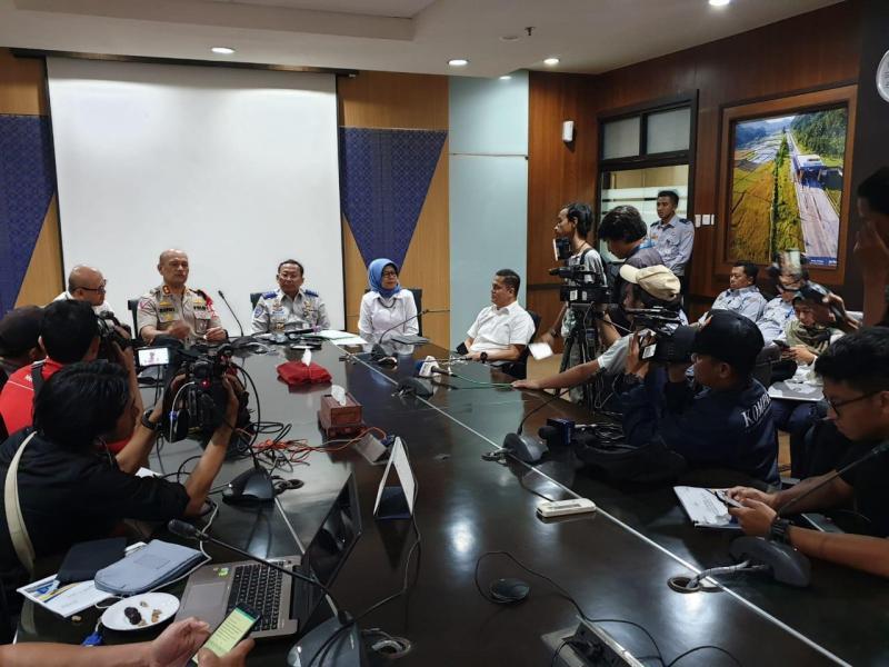 Rapat Koordinasi (Rakor) Pembahasan Evaluasi Arus Mudik dan Persiapan Pelaksanaan Arus Balik Lalu Lintas Lebaran Tahun 2019 yang berlangsung di Kantor Pusat PT Jasa Marga (Persero) Tbk
