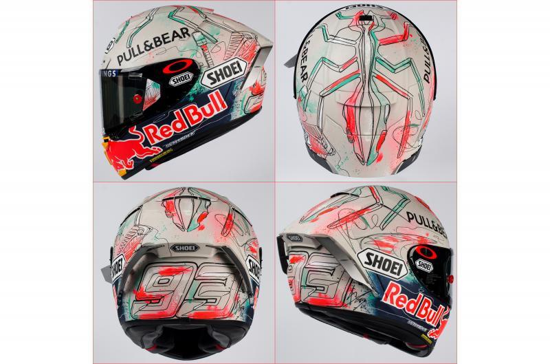 Signature Helmet, spesial buat Marc Marquez di akhir pekan ini. (Foto: motogp)