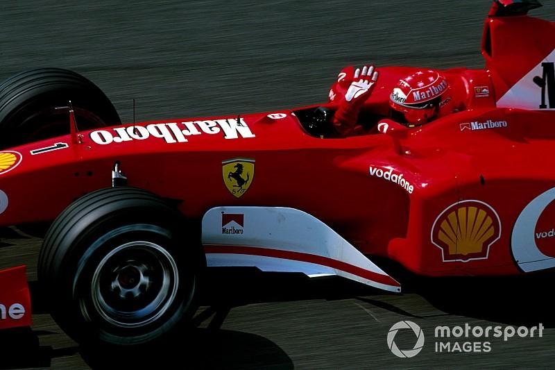 Ferrari F2002 dengan nomor sasis 219 yang pernah dipakai Schumacher bakal dilelang di seri penutup F1 2019 GP Abu Dhabi (ist)